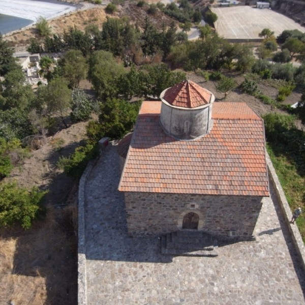 Timios Stavros (The Holy Cross) in Pelendri. UNESCO site. Kite aerial photograph. Cyprus